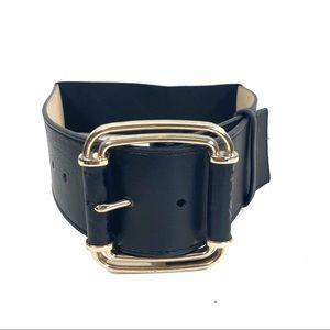 White House Black market wide square buckle belt